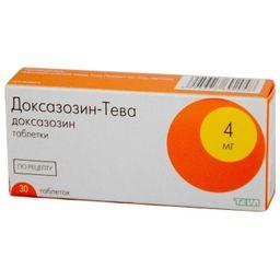 Доксазозин-Тева, 4 мг, таблетки, 30 шт.