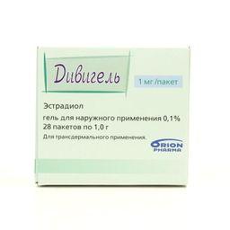 Дивигель, 0.1%, гель трансдермальный, 1 г, 28 шт.