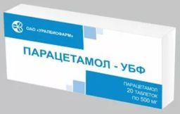 Парацетамол-УБФ, 500 мг, таблетки, 20 шт.