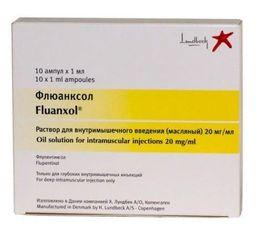 Флюанксол, 20 мг/мл, раствор для внутримышечного введения (масляный), 1 мл, 10 шт.