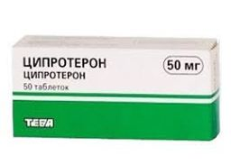 Ципротерон-Тева, 50 мг, таблетки, 50 шт.