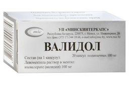 Валидол, 100 мг, капсулы подъязычные, 20 шт.