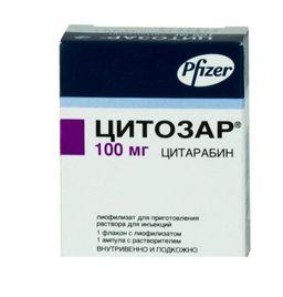 Цитозар, 100 мг, лиофилизат для приготовления раствора для инъекций, 1 шт.