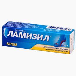 Ламизил, 1%, крем для наружного применения, 15 г, 1 шт.