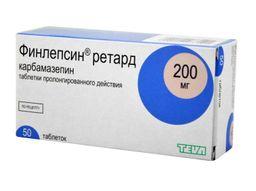 Финлепсин ретард, 200 мг, таблетки пролонгированного действия, 50 шт.