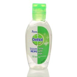 Dettol гель для рук антибактериальный, 50 мл, 1 шт.
