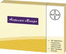 Анжелик Микро, 0.25 мг+0.5 мг, таблетки, покрытые пленочной оболочкой, 28 шт.