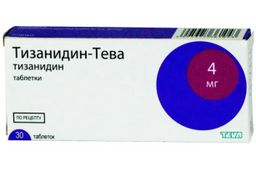 Тизанидин-Тева, 4 мг, таблетки, 30 шт.