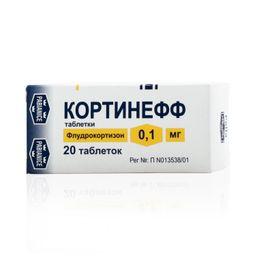Кортинефф, 0.1 мг, таблетки, 20 шт.