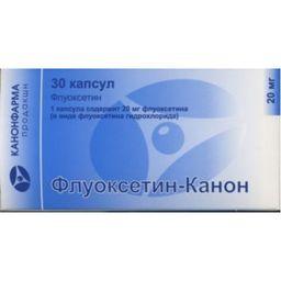 Флуоксетин-Канон, 20 мг, капсулы, 30 шт.
