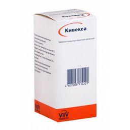 Кивекса, 600 мг+300 мг, таблетки, покрытые пленочной оболочкой, 30 шт.