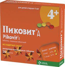 Пиковит Д, таблетки, покрытые оболочкой, без сахара, 30 шт.