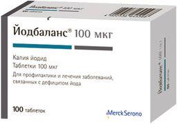 Йодбаланс, 100 мкг, таблетки, 100 шт.