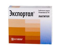Экспортал, порошок для приготовления раствора для приема внутрь, 10 г, 10 шт.