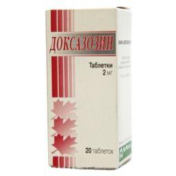 Доксазозин, 2 мг, таблетки, 20 шт.