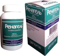 Ренагель, 800 мг, таблетки, покрытые пленочной оболочкой, 180 шт.