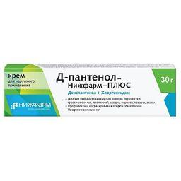 Д-пантенол-Нижфарм Плюс, крем для наружного применения, 30 г, 1 шт.