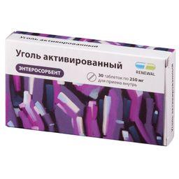 Уголь активированный, 250 мг, таблетки, 30 шт.