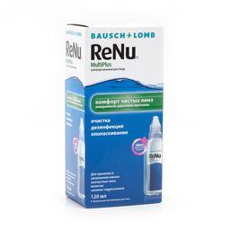 ReNu Multi Plus, раствор для обработки и хранения мягких контактных линз, 120 мл, 1 шт.