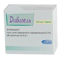 Дивигель, 0.1%, гель трансдермальный, 0.5 г, 28 шт.