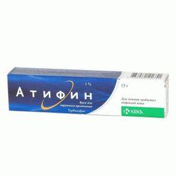 Атифин, 1%, крем для наружного применения, 15 г, 1 шт.