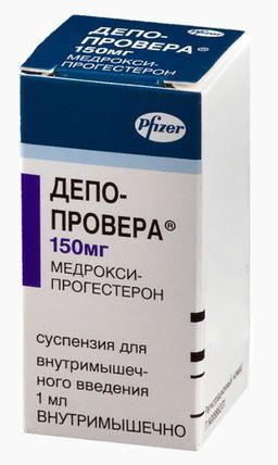 Депо-Провера, 150 мг/мл, суспензия для внутримышечного введения, 1 мл, 1 шт.