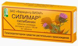 Силимар, 0.1 г, таблетки, 30 шт.