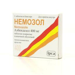 Немозол, 400 мг, таблетки, покрытые пленочной оболочкой, 1 шт.