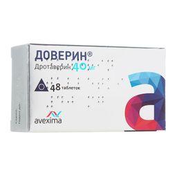 Доверин, 40 мг, таблетки, 48 шт.