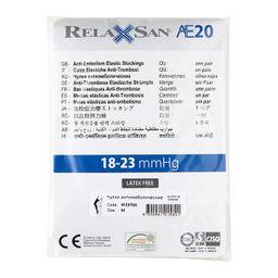 Relaxsan Anti-Embolism Чулки антиэмболические, Medium M (2), арт. M2370А (18-23 mm Hg), с открытым мыском, белые, пара, 1 шт.