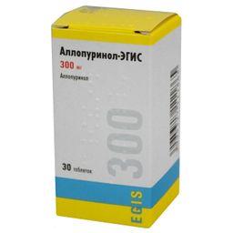 Аллопуринол-Эгис, 300 мг, таблетки, 30 шт.