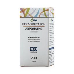 Беклометазон-аэронатив, 100 мкг/доза, 200 доз, аэрозоль для ингаляций дозированный, 1 шт.