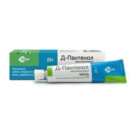 Д-Пантенол, 5%, мазь для наружного применения, 25 г, 1 шт.
