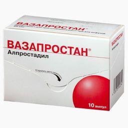 Вазапростан, 60 мкг, лиофилизат для приготовления раствора для инфузий, 10 шт.