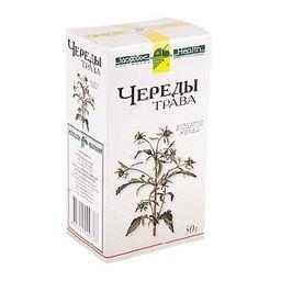 Череды трава, сырье растительное измельченное, 50 г, 1 шт.