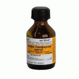 альфа-Токоферола ацетат, 100 мг/мл, раствор для приема внутрь в масле, 20 мл, 1 шт.