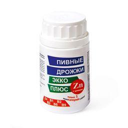Пивные дрожжи Экко Плюс с цинком, 0.45 г, таблетки, 100 шт.
