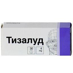 Тизалуд, 4 мг, таблетки, 30 шт.